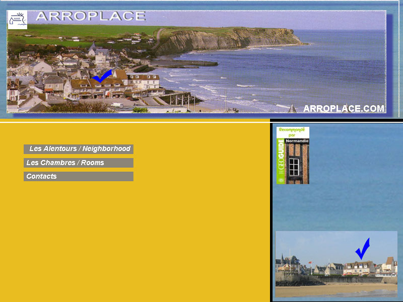 Arromanches arroplace chambres d 39 hotes b b bord de plage - Chambre d hotes normandie bord de mer ...